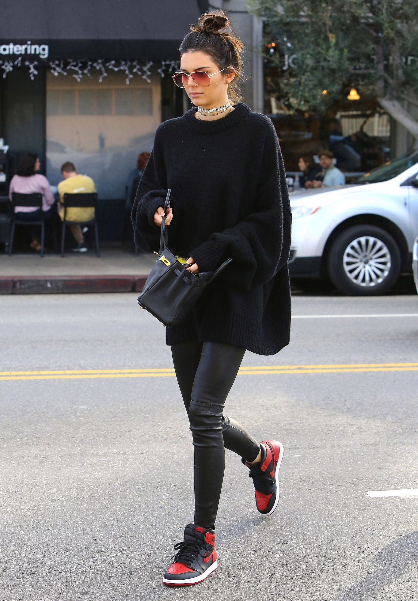 A trendy Kendall Jenner leaves Joan's on Third
