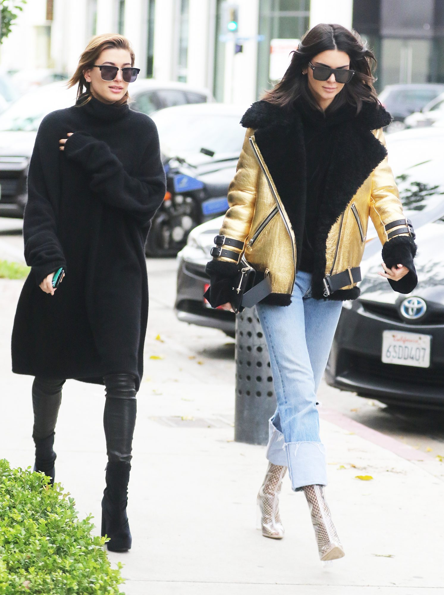 Kendall Jenner and Hailey Baldwin go on a shopping spree in LA together with Kendall's new dog