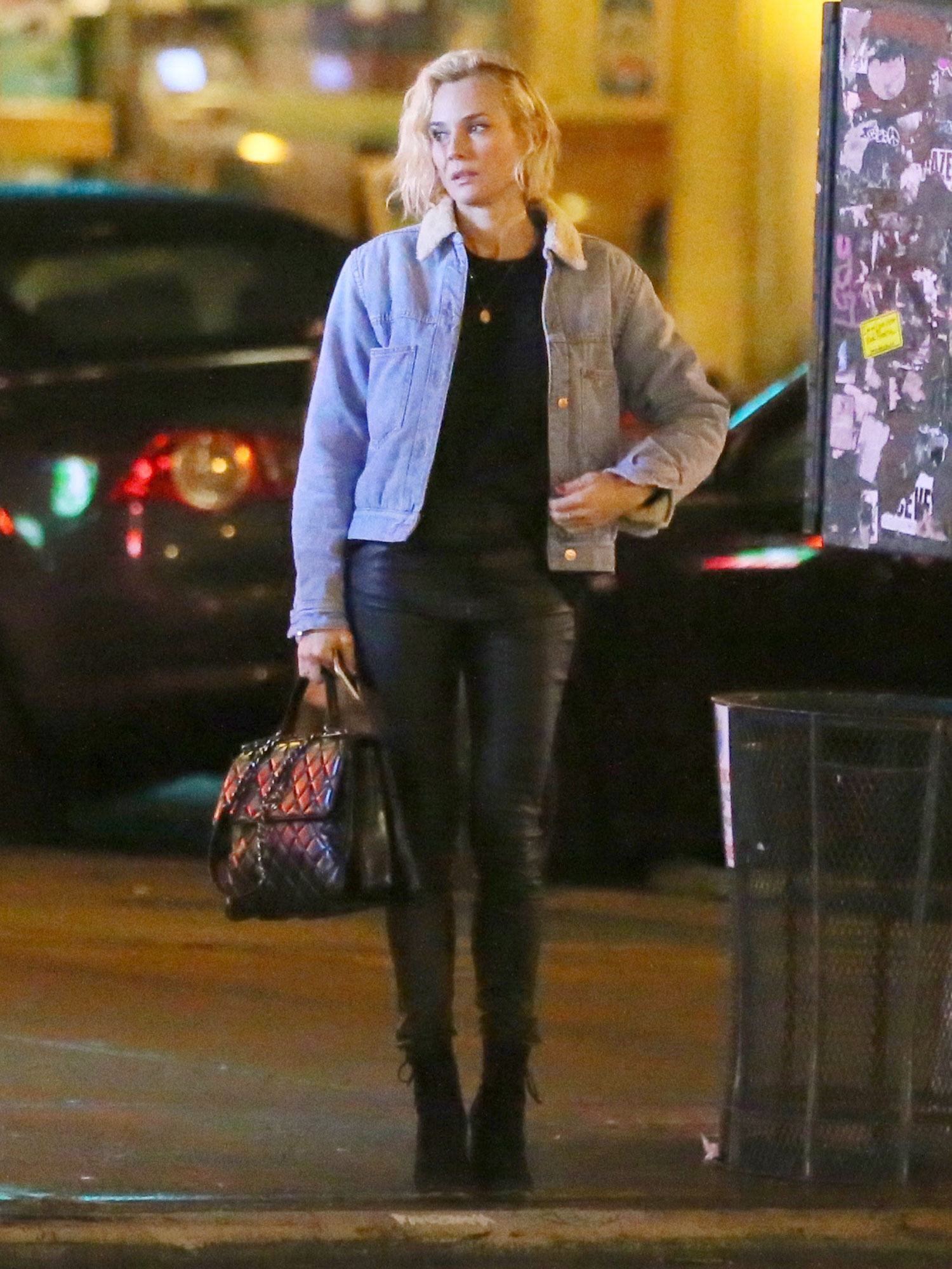 EXCLUSIVE: Diane Kruger is Spotted Walking in the East Village of New York