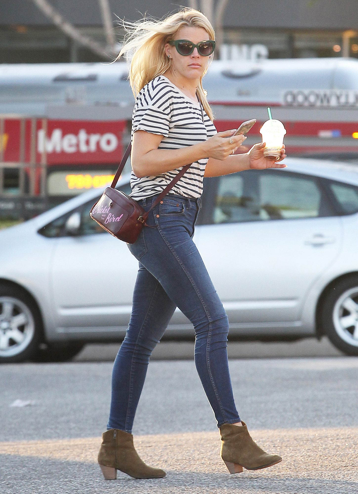 *EXCLUSIVE* Busy Philipps grabs a golden hour Frappuccino