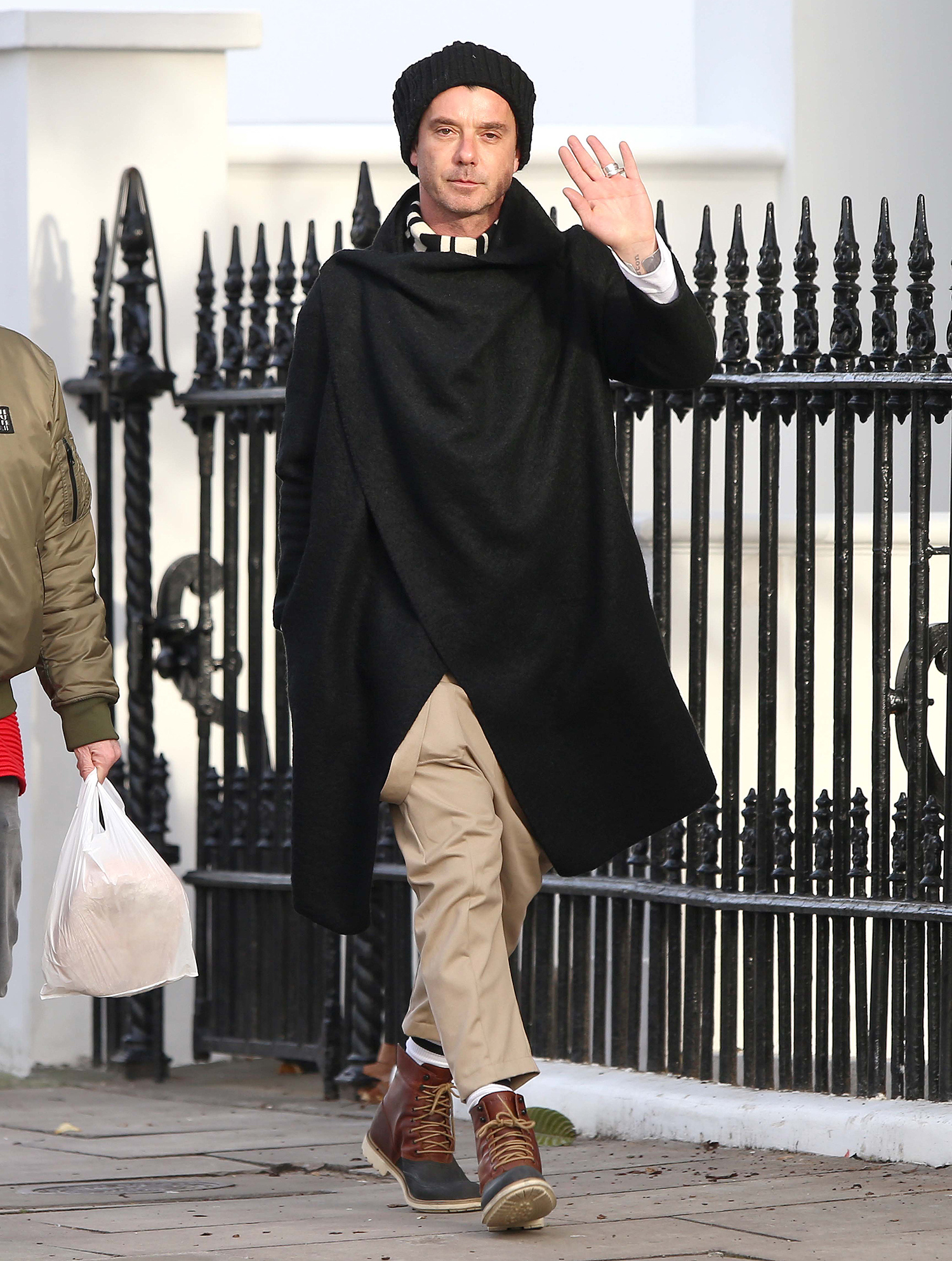 EXCLUSIVE: New judge of The Voice UK Gavin Rossdale wraps up warm for a walk in Primrose Hill ahead of the show's launch on Saturday.