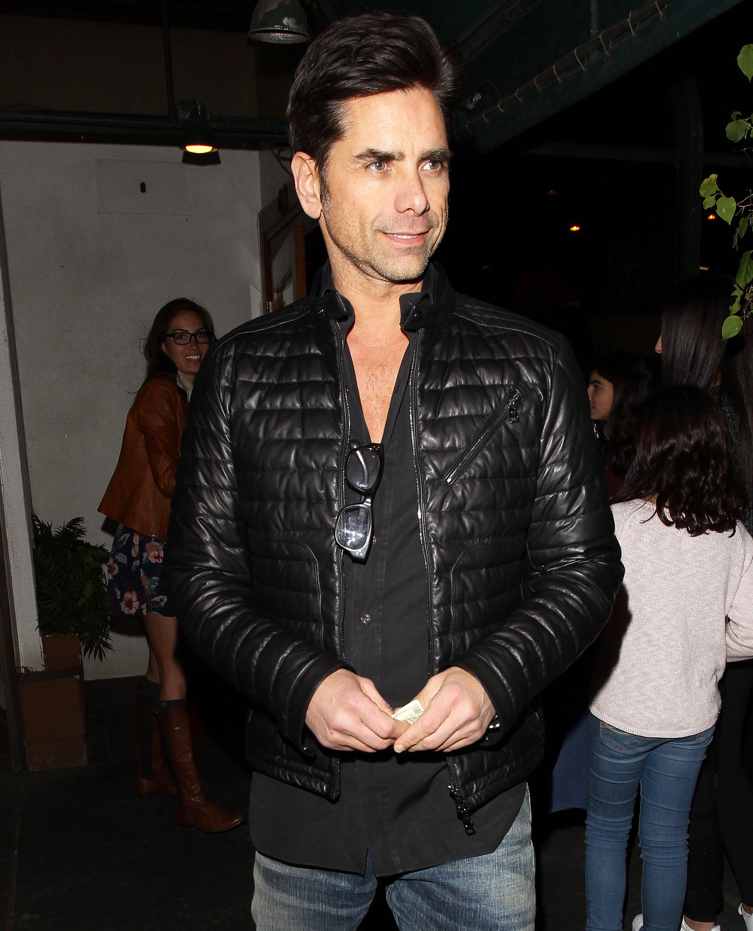 John Stamos and girlfriend Caitlin McHugh have a date night at Madeo