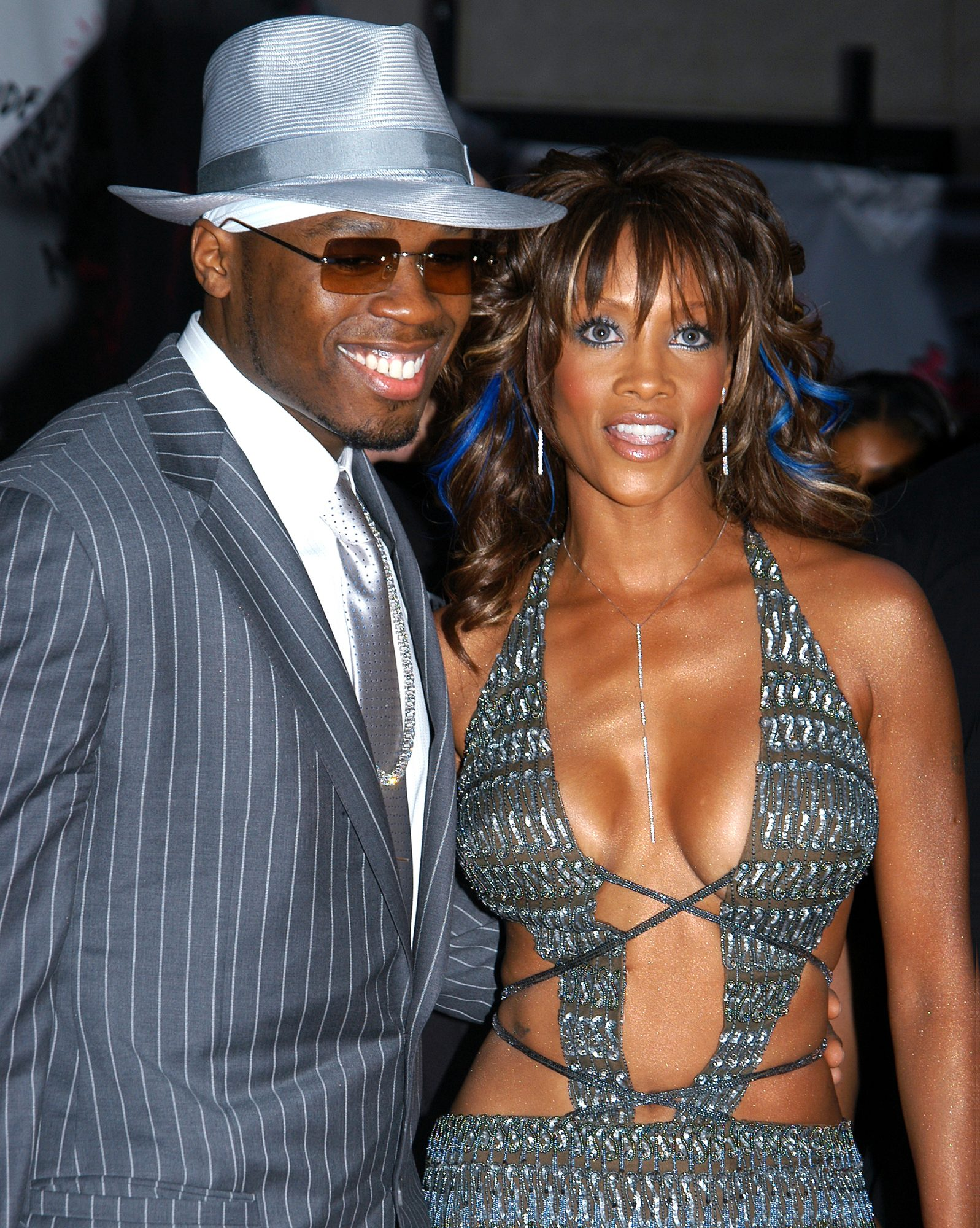 Rapper 50 Cent and Vivica A. Fox arrive at Radio City Music