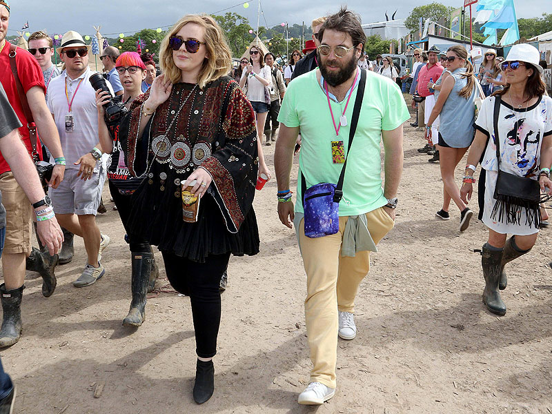 CTR Glastonbury Festival 2015 Glastonbury Festival 2015 Adele and husband Simon Konecki 27th June 2015
