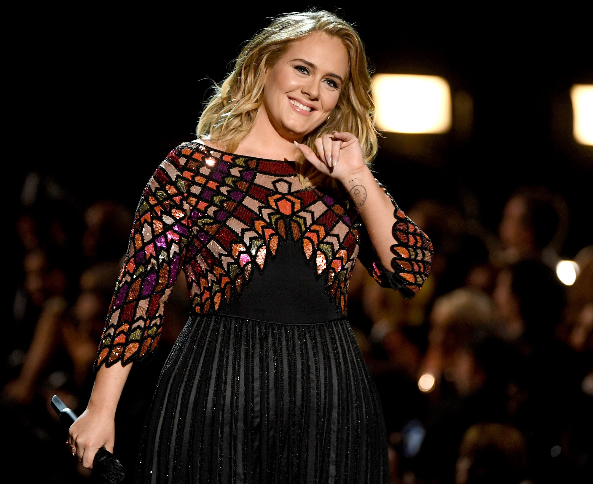 LOS ANGELES, CA - FEBRUARY 12: Recording artist Adele performs onstage during The 59th GRAMMY Awards at STAPLES Center on February 12, 2017 in Los Angeles, California. (Photo by Kevin Winter/Getty Images for NARAS)