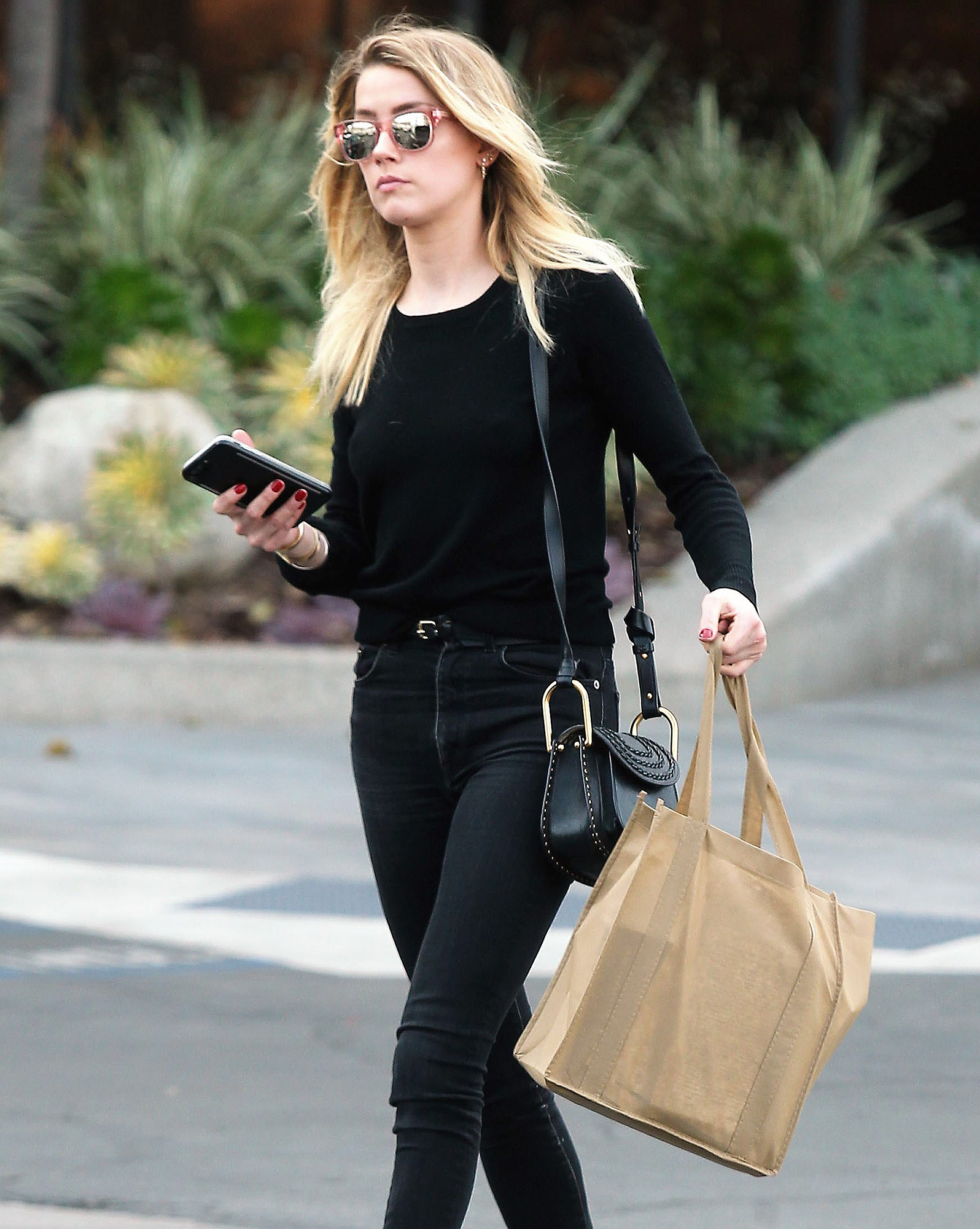 Exclusive... Amber Heard Stops By A Law Office In Santa Monica