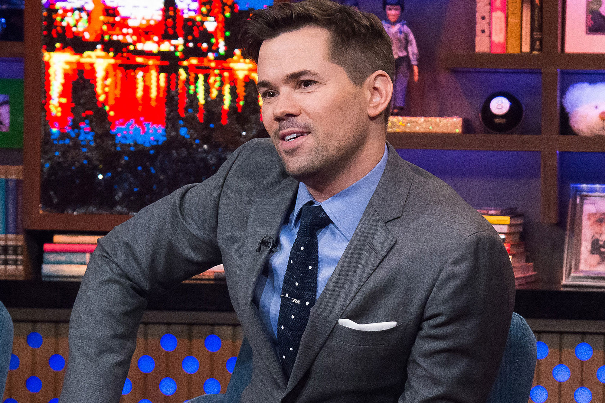 WATCH WHAT HAPPENS LIVE WITH ANDY COHEN -- Episode 14023 -- Pictured: Andrew Rannells -- (Photo by: Charles Sykes/Bravo)