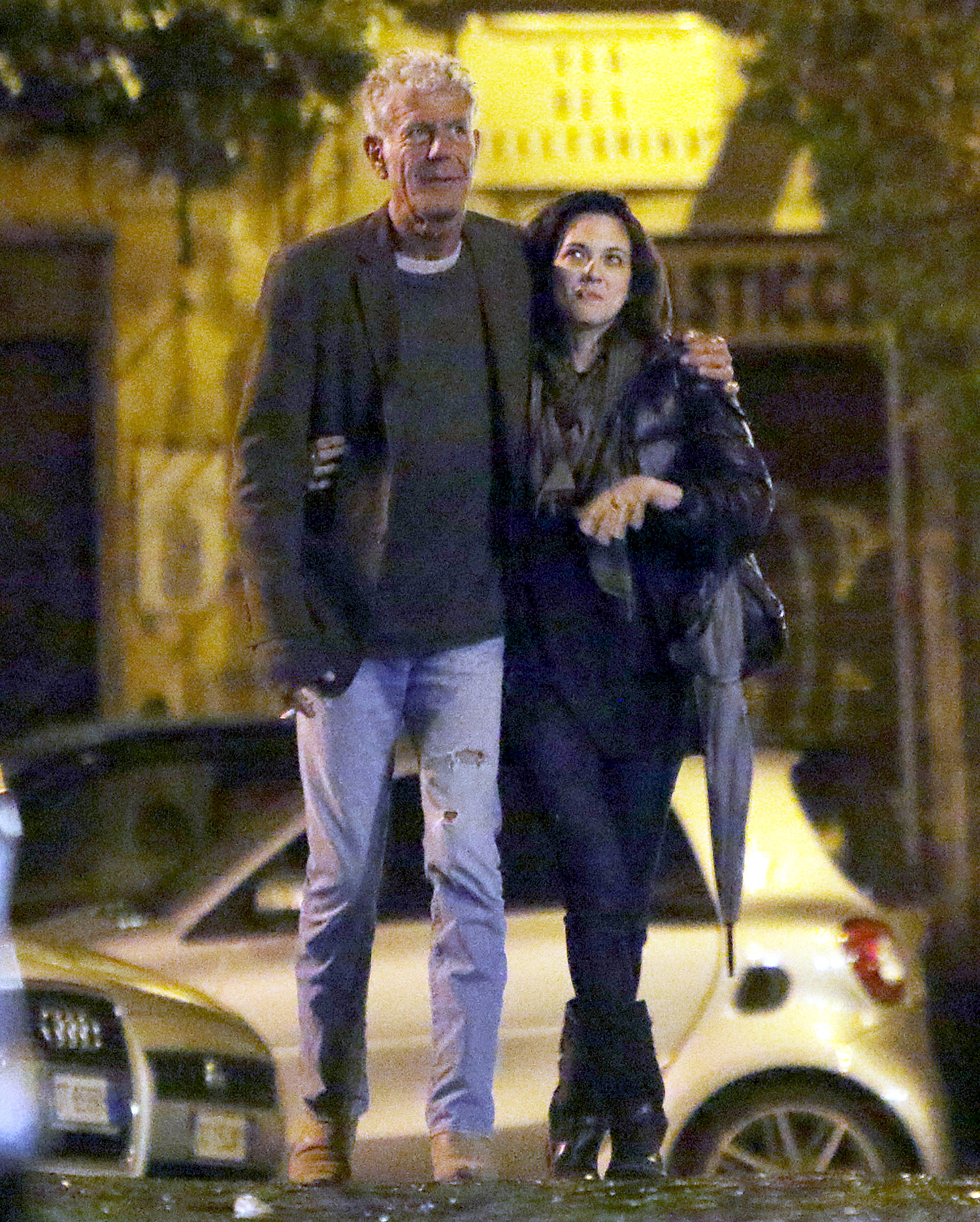 EXCLUSIVE: Chef Anthony Bourdain and Asia Argento spotted kissing passionately in Rome