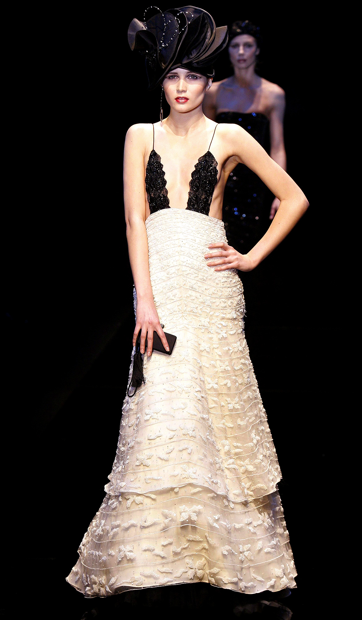 Giorgio Armani, Haute Couture Spring-Summer 2005 Fashion Show in Paris, France On January 24, 2005-