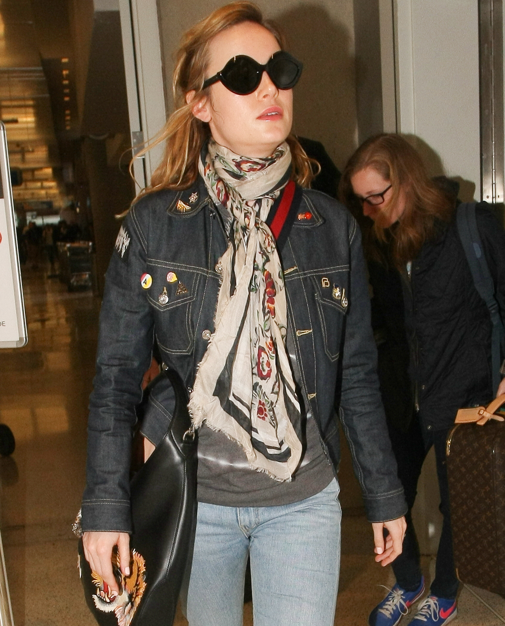 Actress  Brie Larson jets out of LAX