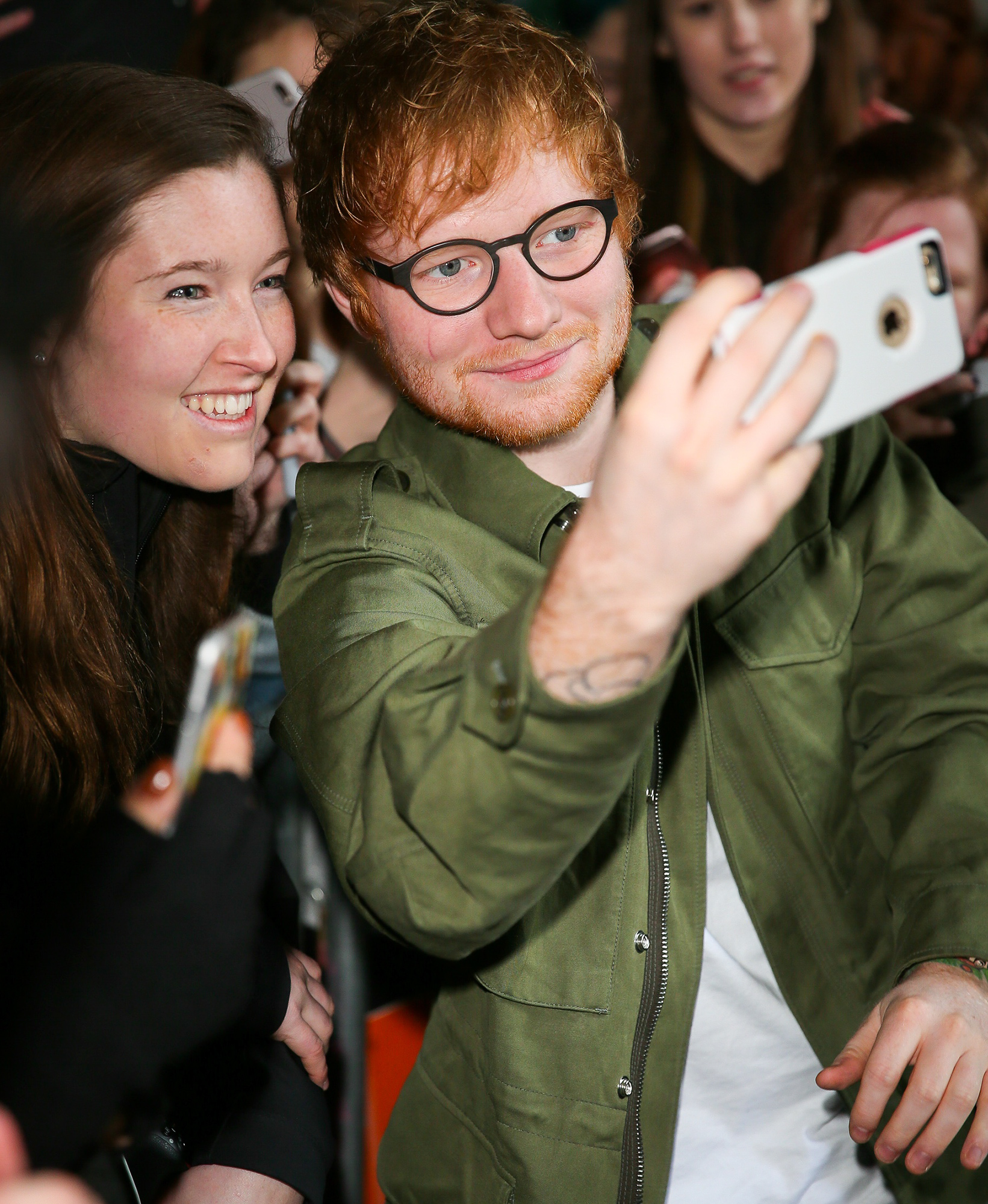 Singer Ed Sheeran arriving at BBC Radio One studios to perform on the Live Lounge - London