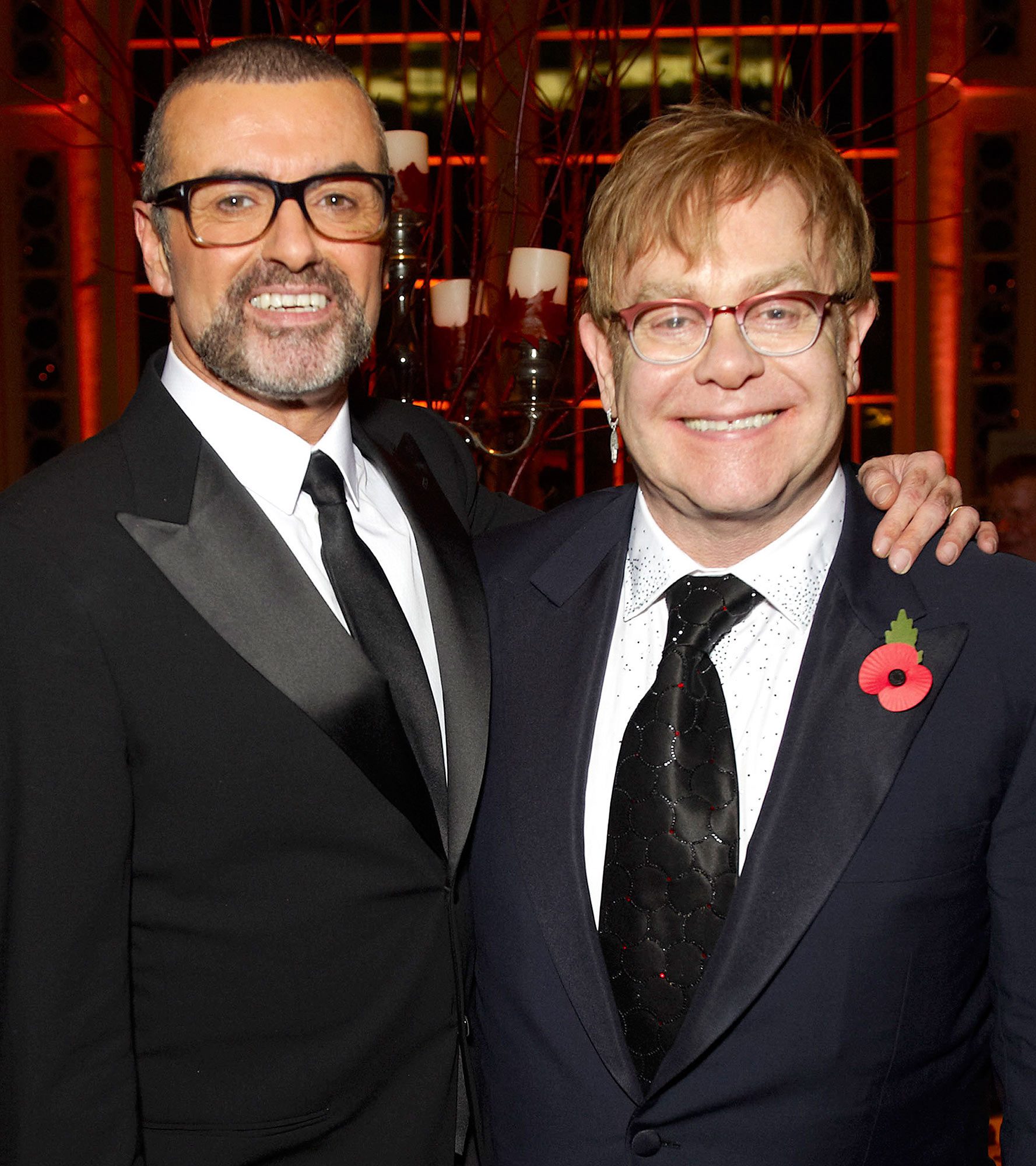 George Michael and Elton John Charity Performance At The Royal Opera House