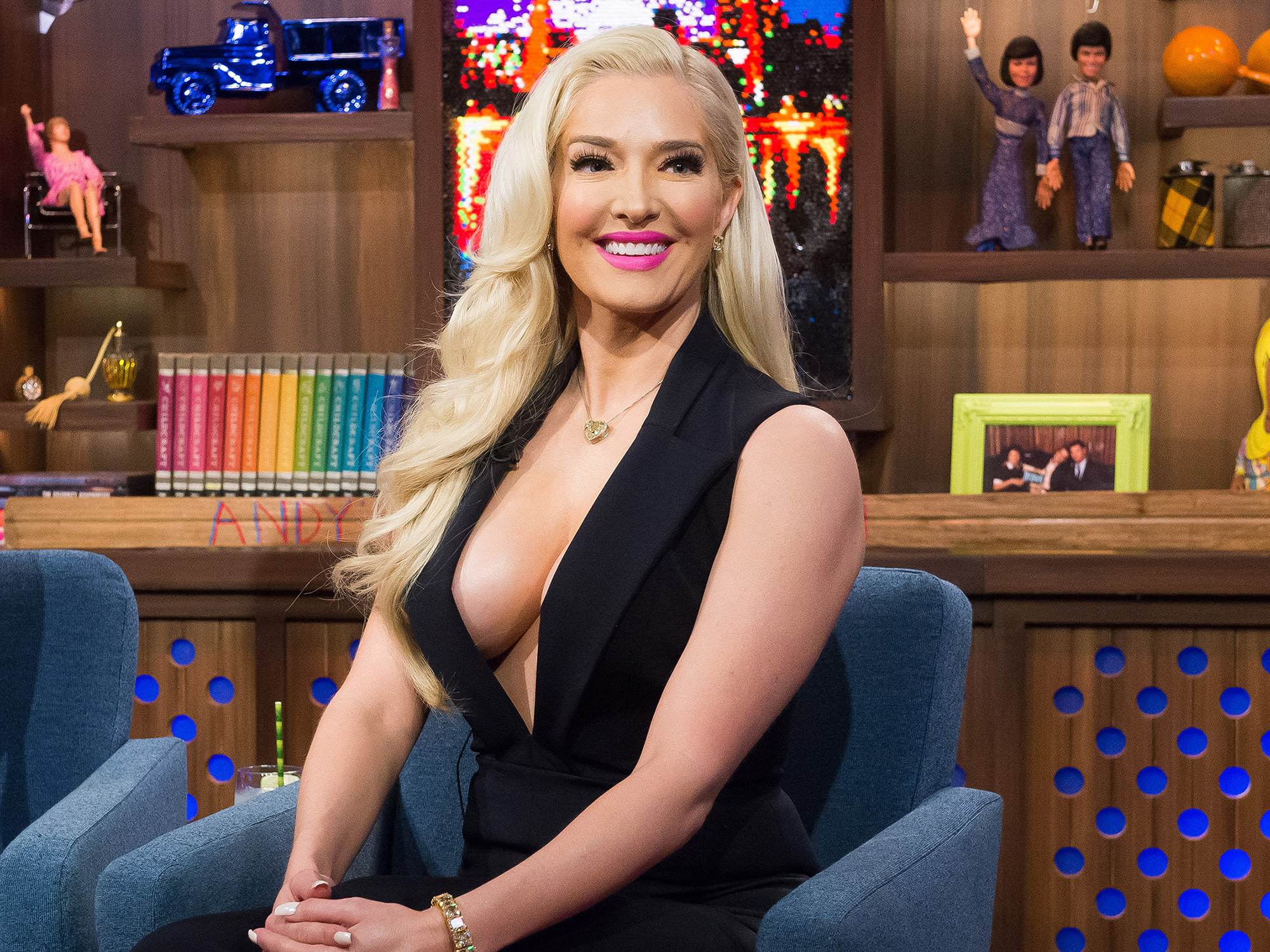 WATCH WHAT HAPPENS LIVE -- Pictured: Erika Girardi -- (Photo by: Charles Sykes/Bravo/NBCU Photo Bank via Getty Images)