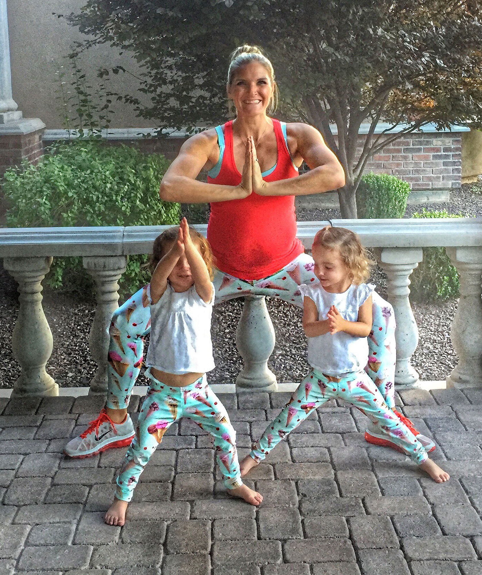 Interviewed this mom who works out with her kids.