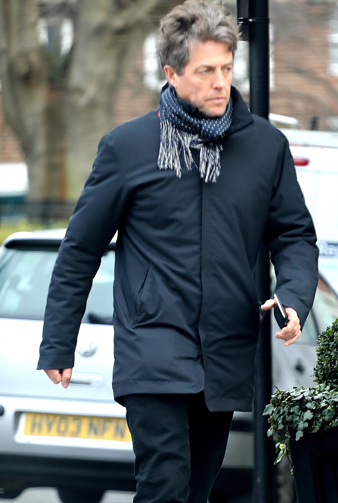 EXCLUSIVE: Hugh Grant is spotted out and about in West London