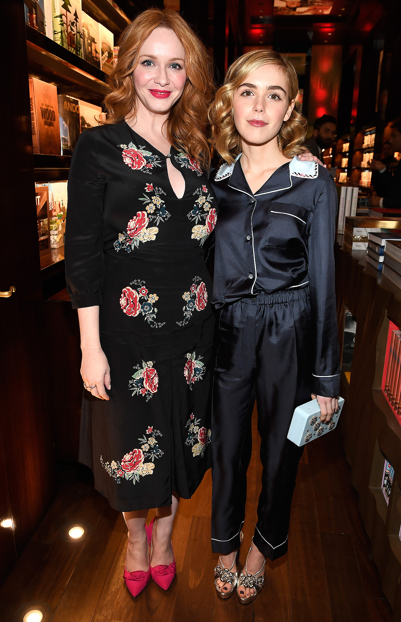 """BEVERLY HILLS, CA - FEBRUARY 23: Actors Christina Hendricks (L) and Kiernan Shipka attend the launch for Matthew Weiner's Book """"Mad Men"""" at TASCHEN Store Beverly Hills on February 23, 2017 in Beverly Hills, California. (Photo by Frazer Harrison/Getty Images)"""