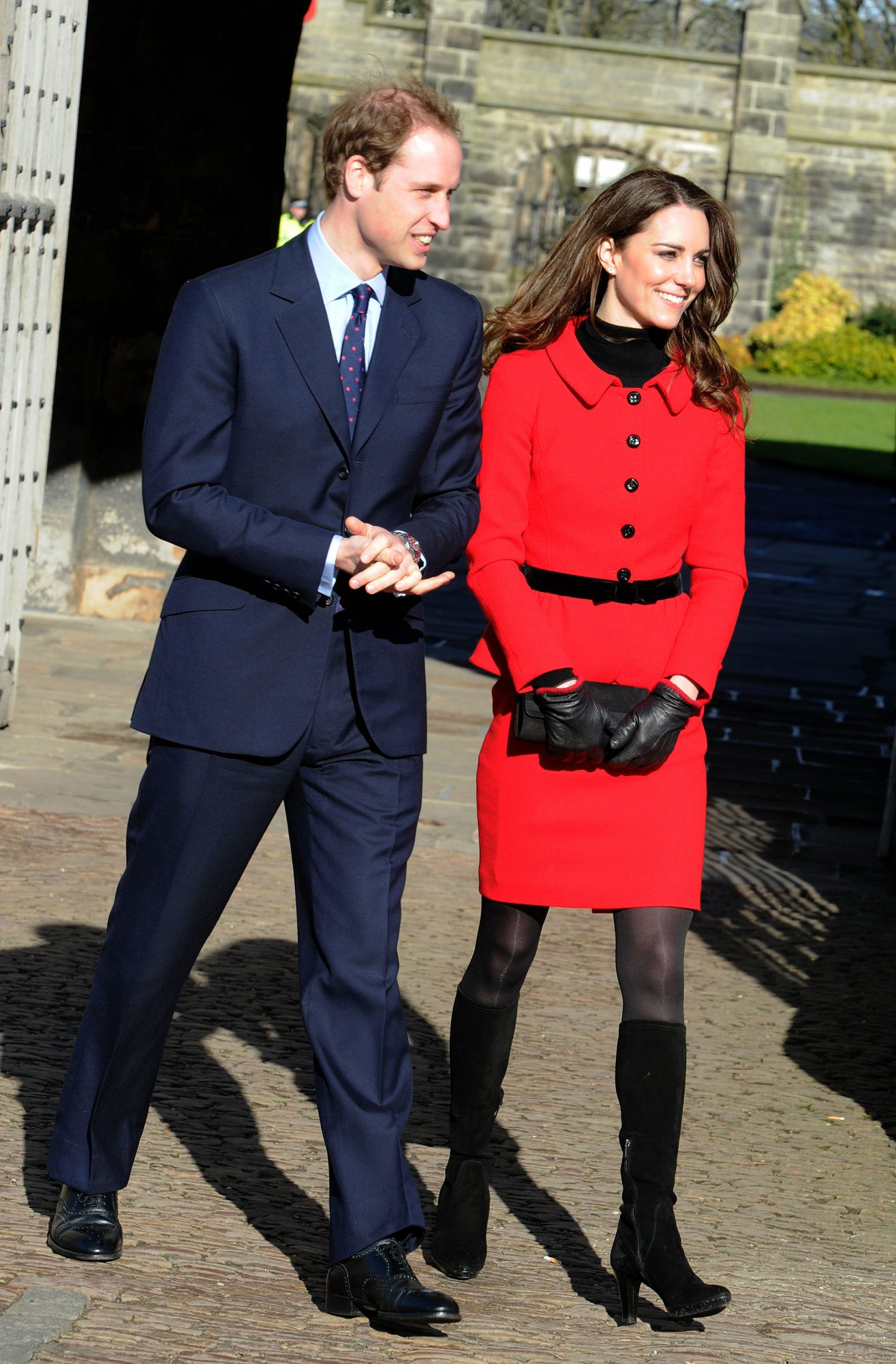 Prince Willliam and Kate Middleton return to the University of St Andrews to launch a fundraising campaign on February 25, 2011 in St Andrews, Scotland.