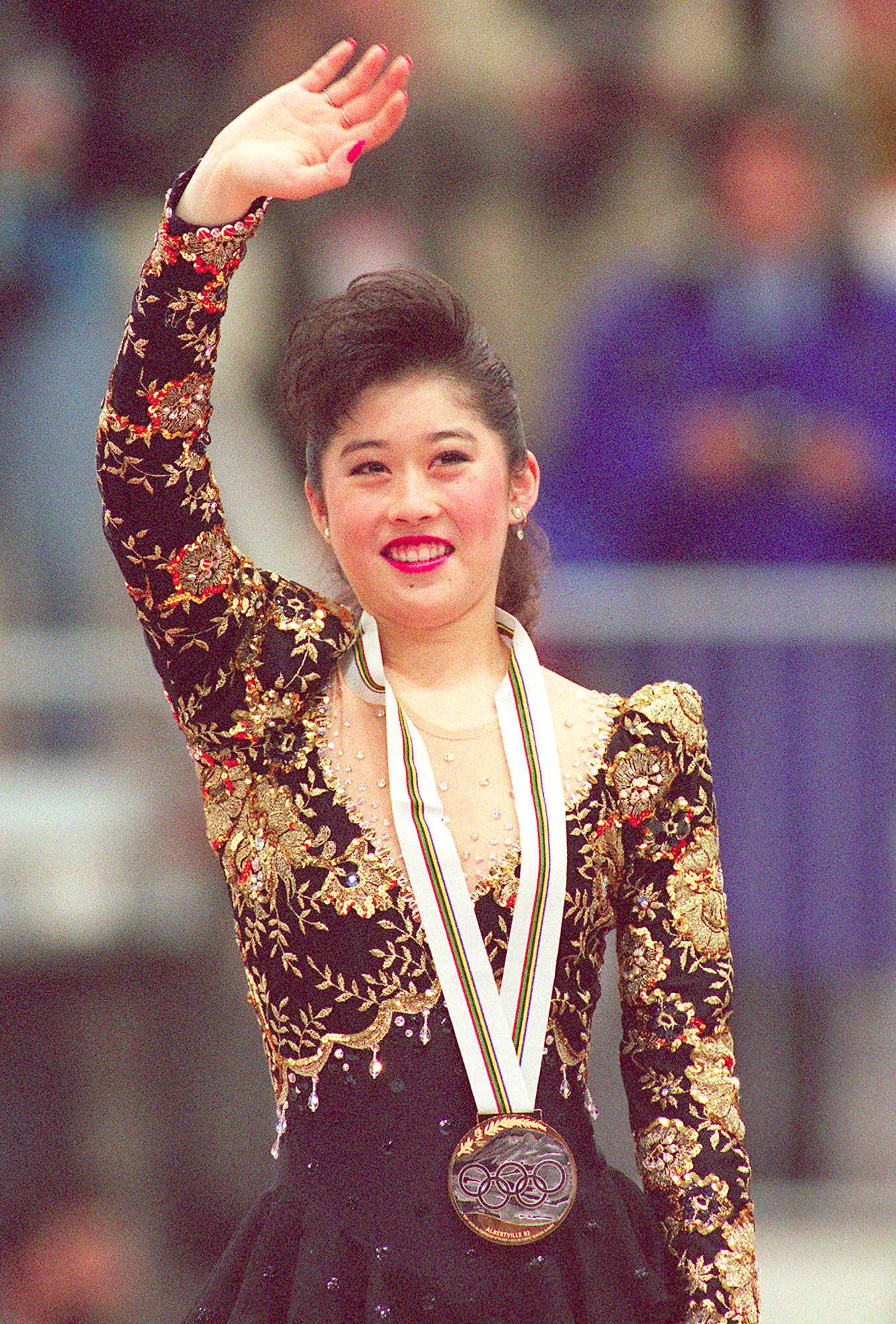 Kristi Yamaguchi from the United States smiles as