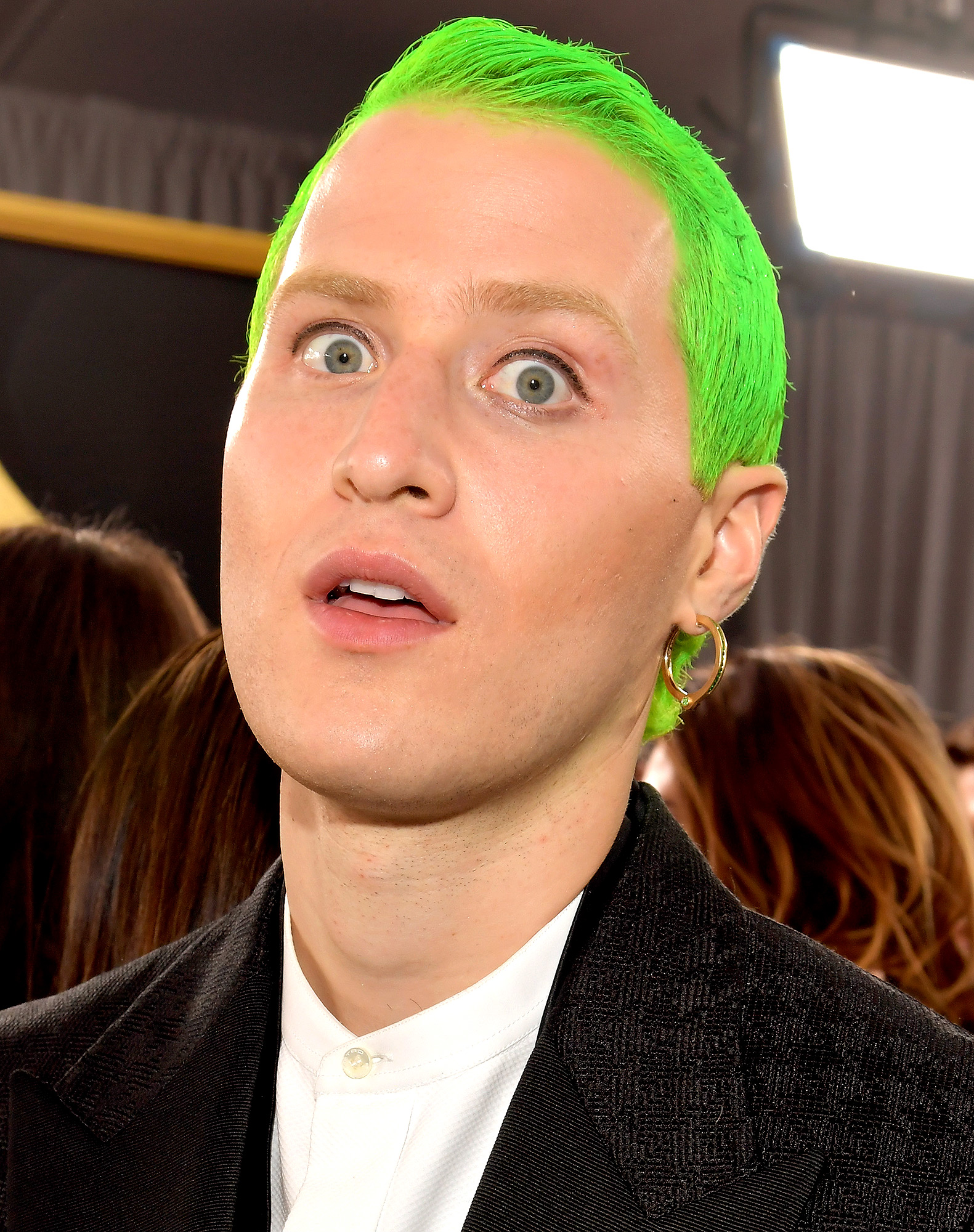 Mike Posner's Green Hair
