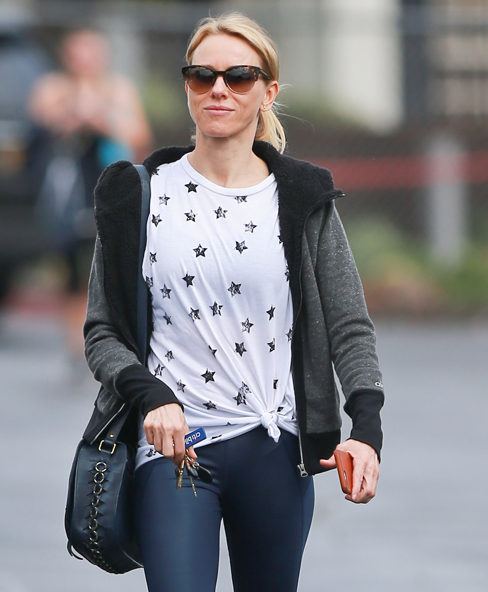 Exclusive... Naomi Watts Gets Her Workout In