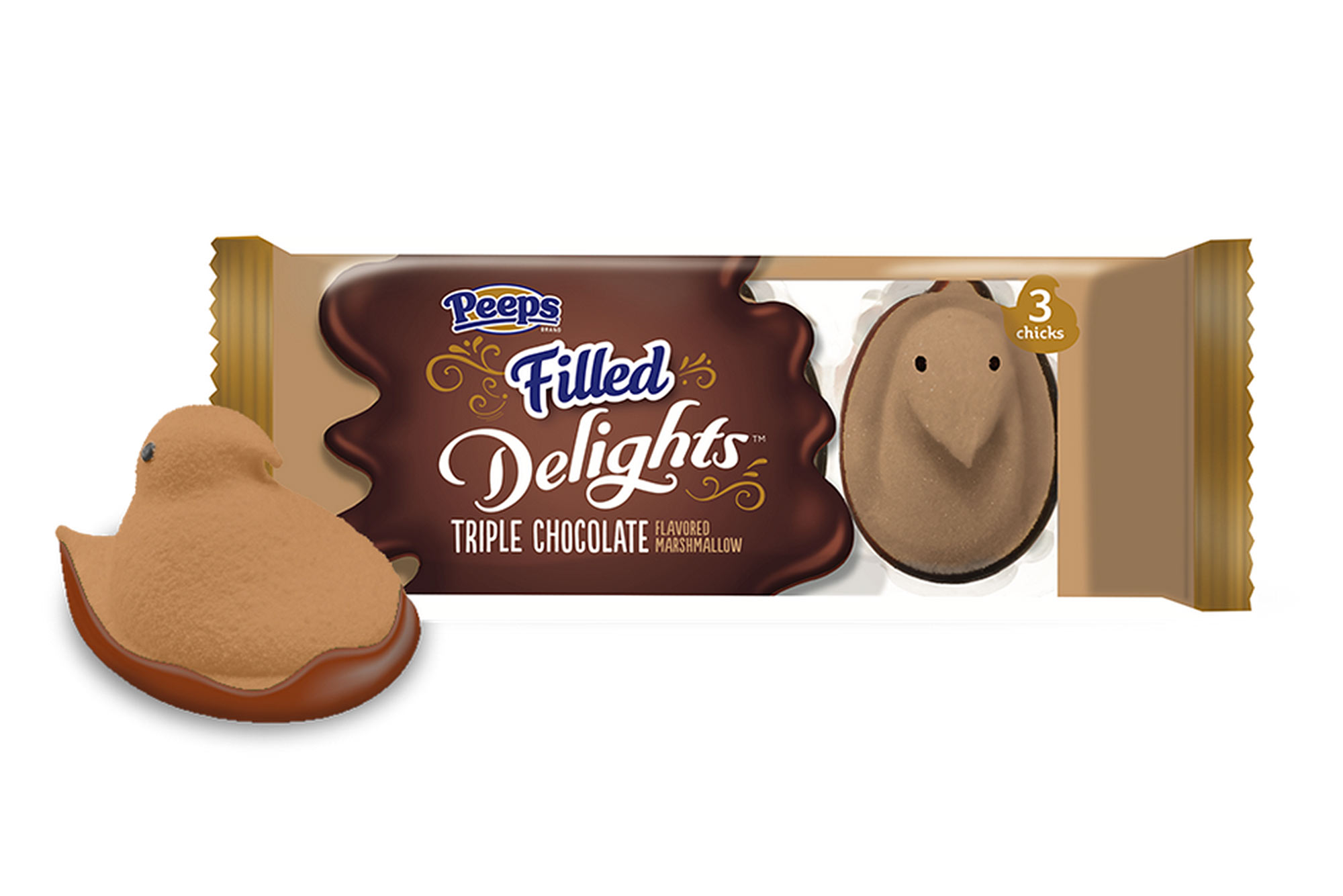Peeps Filled Delights, Triple Chocolate