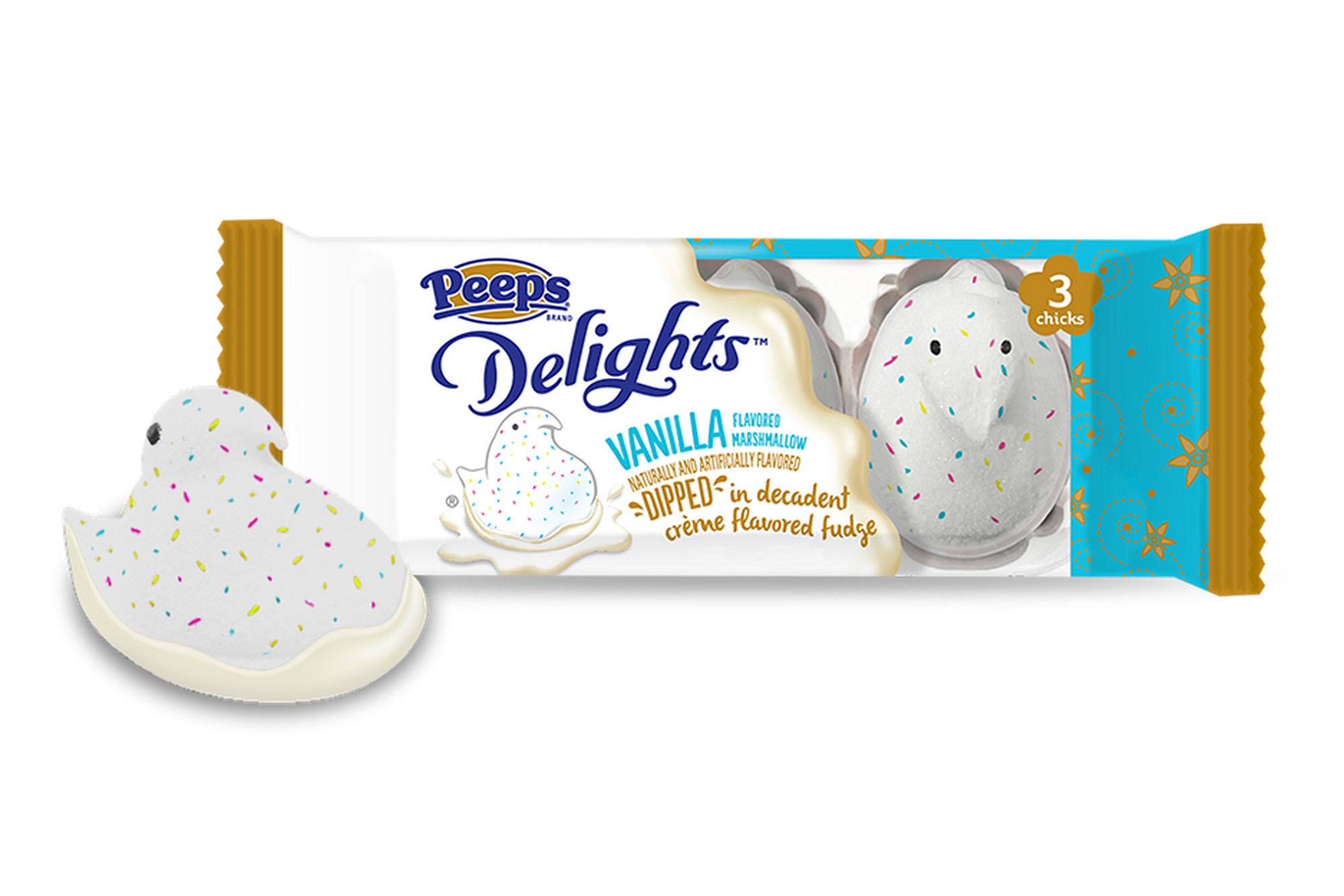 Peeps Delights Vanilla, Dipped in Crème Flavored Fudge