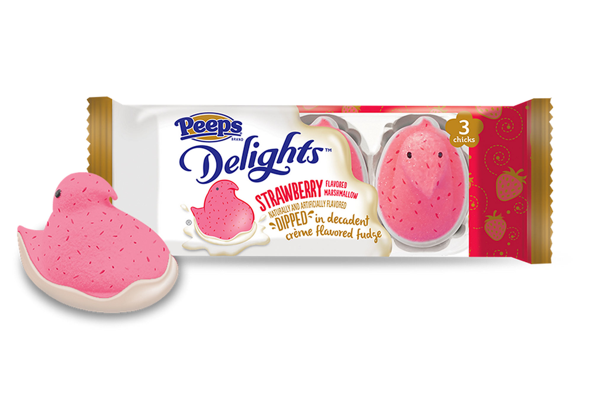 Peeps Delights Strawberry, Dipped in Crème Flavored Fudge