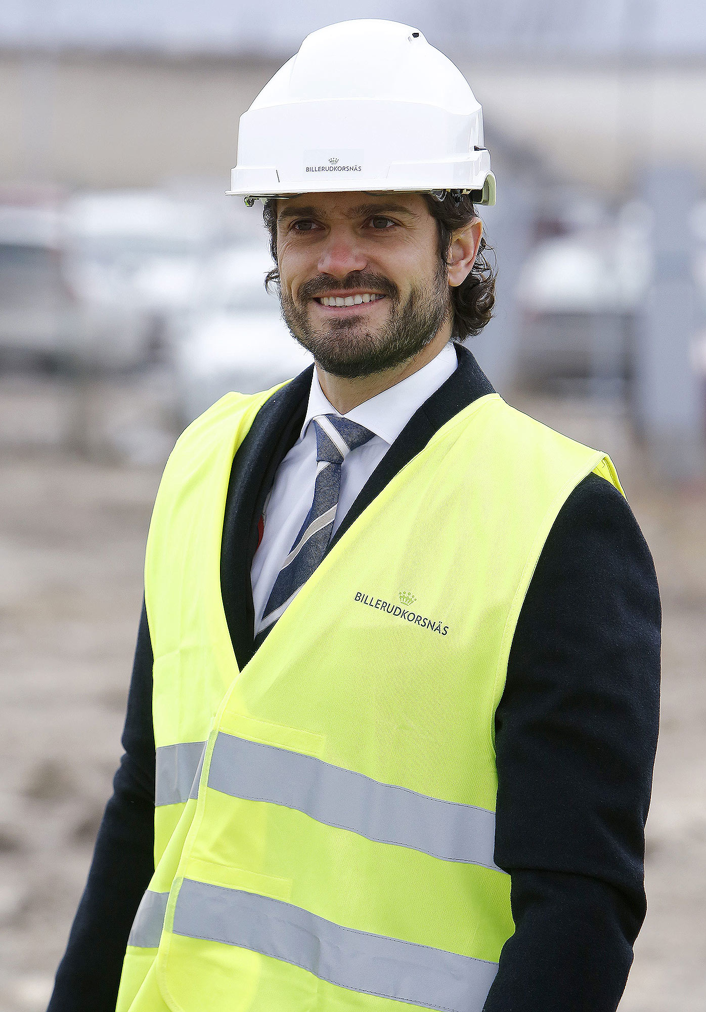 Prince Carl Philip visits BillerudKorsnas factory, Grums, Sweden - 09 Feb 2017