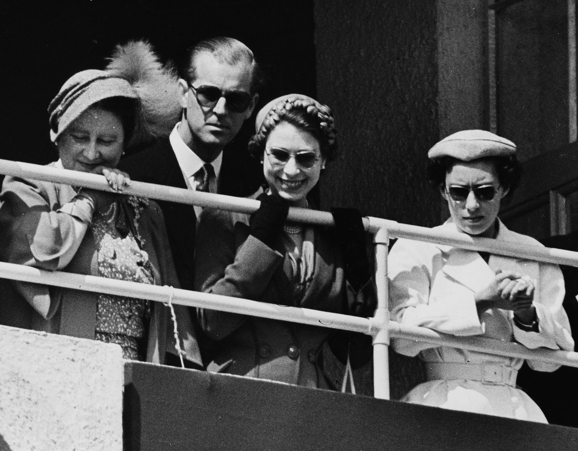 Queen Elizabeth II And Family At The Races