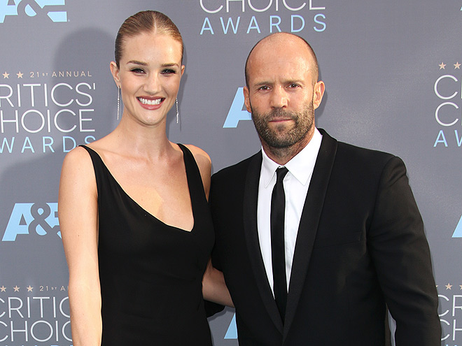Mandatory Credit: Photo by REX/Shutterstock (5541858ad) Rosie Huntington-Whiteley and Jason Statham 21st Annual Critics' Choice Awards, Arrivals, Los Angeles, America - 17 Jan 2016