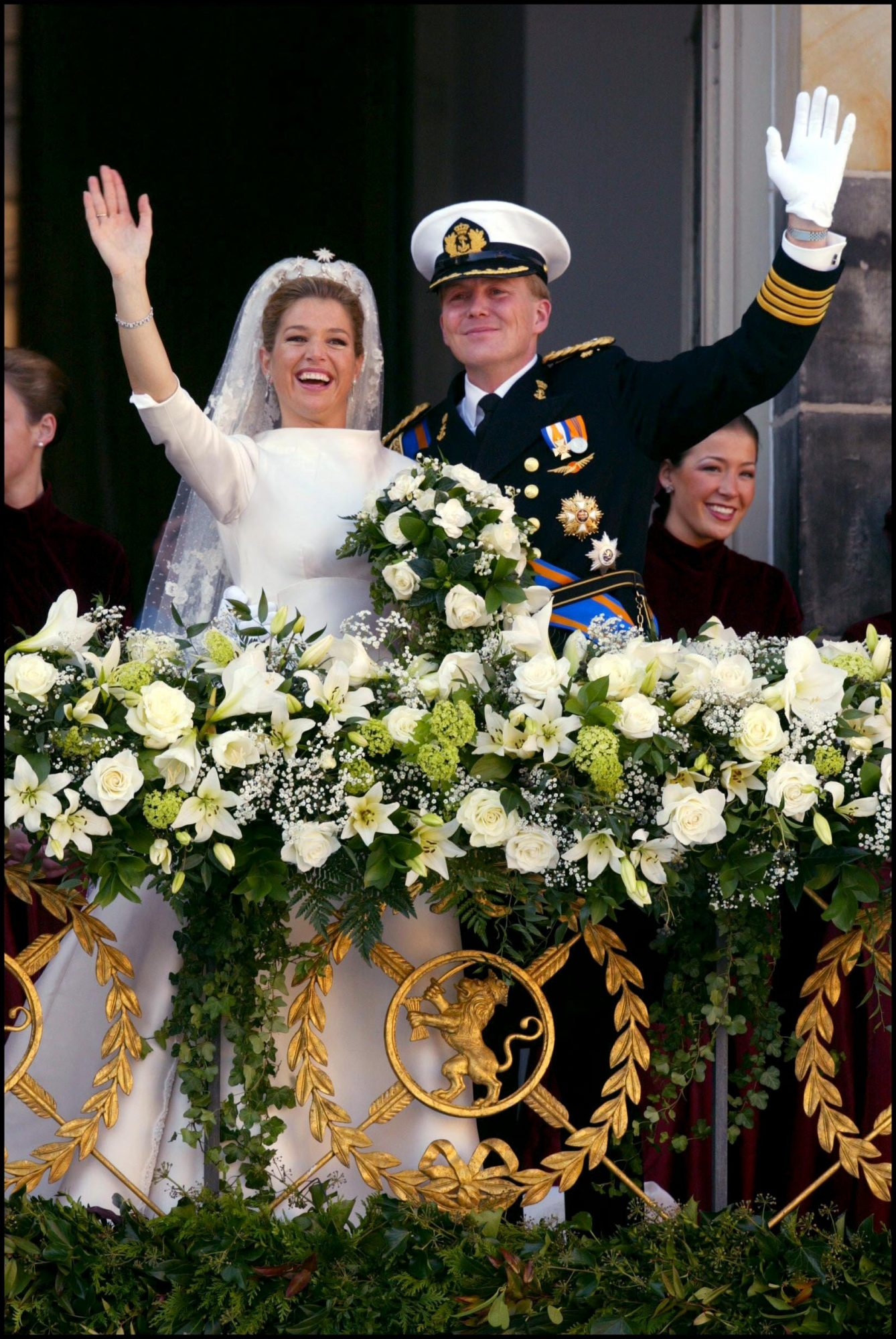 Royal Wedding of the Prince Willem-Alexander with Maxima Zorreguieta In Amsterdam, Netherlands On February 02, 2002-
