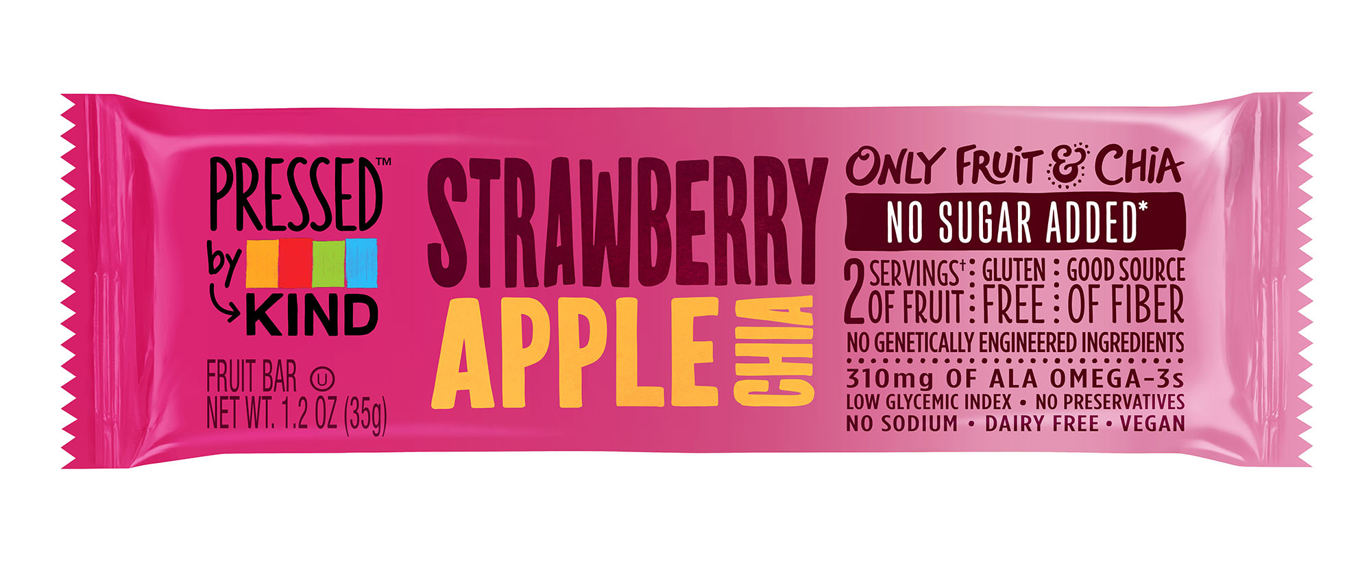 PRESSED BY KIND STRAWBERRY APPLE CHIA BARS