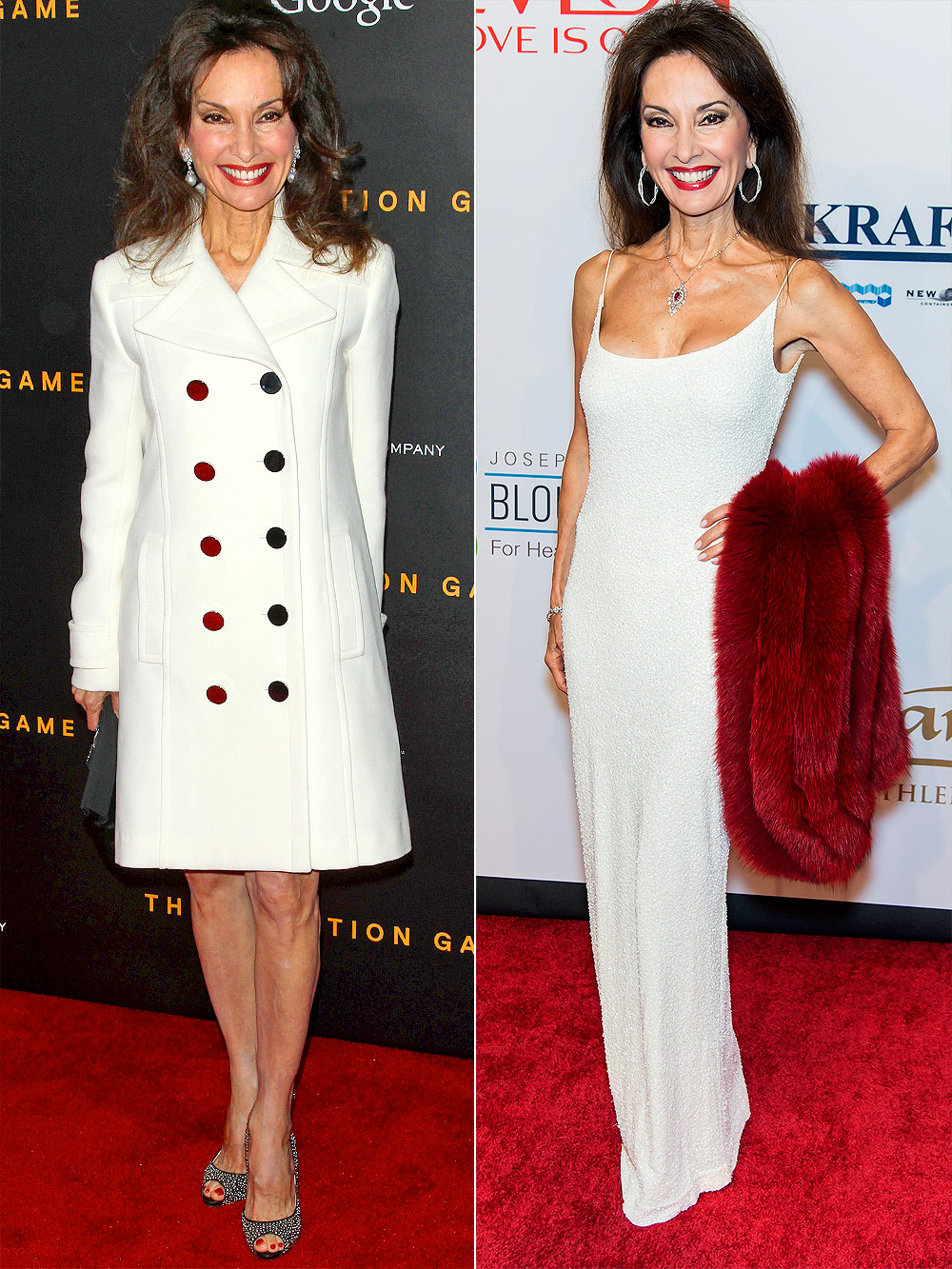 "NEW YORK, NY - NOVEMBER 17: Actress Susan Lucci attends the ""The Imitation Game"" New York Premiere at Ziegfeld Theater on November 17, 2014 in New York City. (Photo by Jim Spellman/WireImage)"