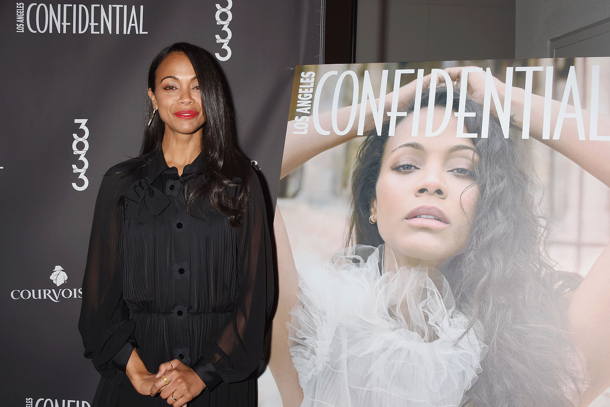 Los Angeles Confidential Celebrates Winter Issue With Cover Star Zoe Saldana