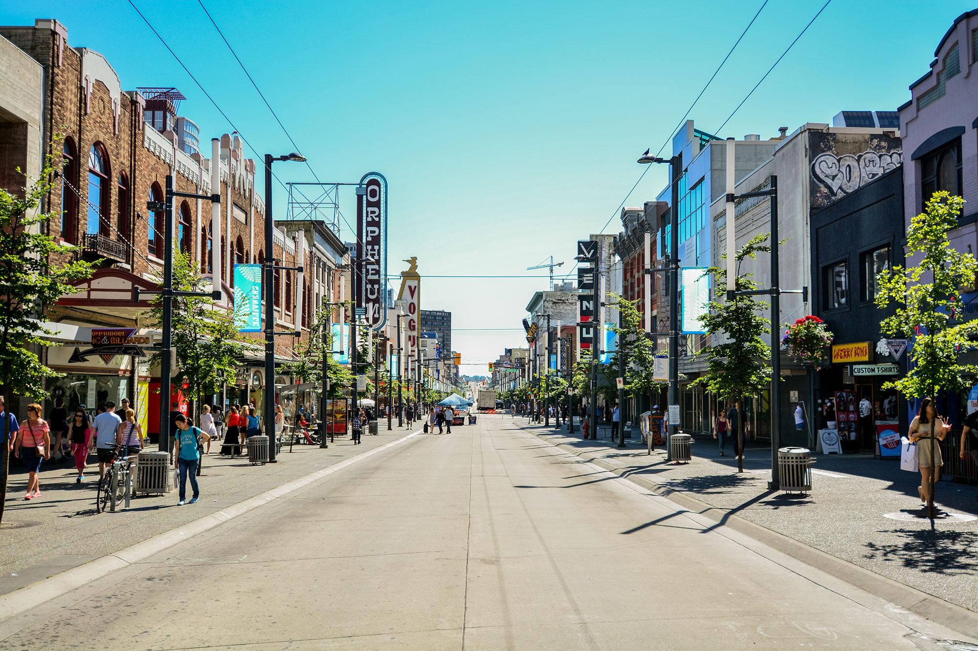 Granville Street in downtown Vancouver.
