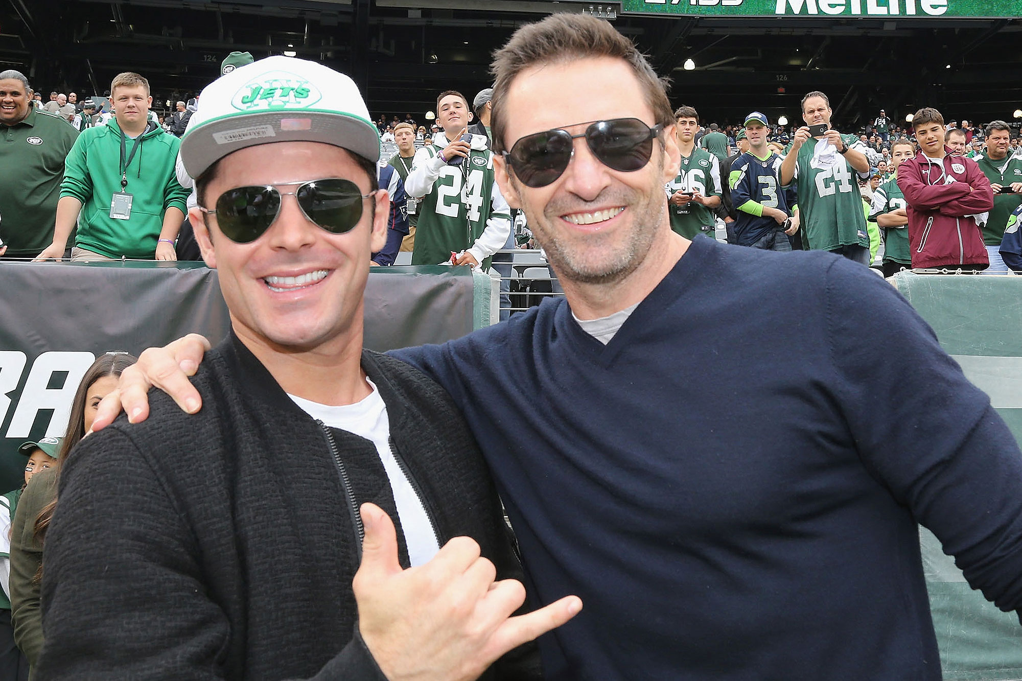 Celebrities Attend The Seattle Seahawks Game Vs New York Jets Game