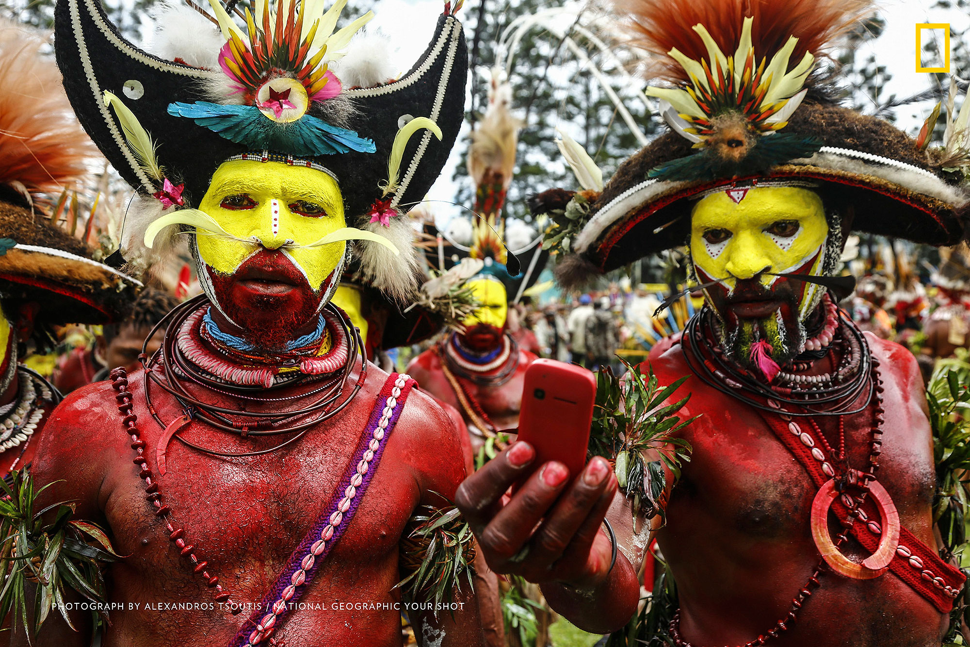 Tech cannibalism Technology has conquered every part of our planet, even the isolated and once infamous for cannibalistic customs, land of Papua New Guinea 6. Photograph by Julie Redwine / National Geographic Your Shot Old-Fashioned Future