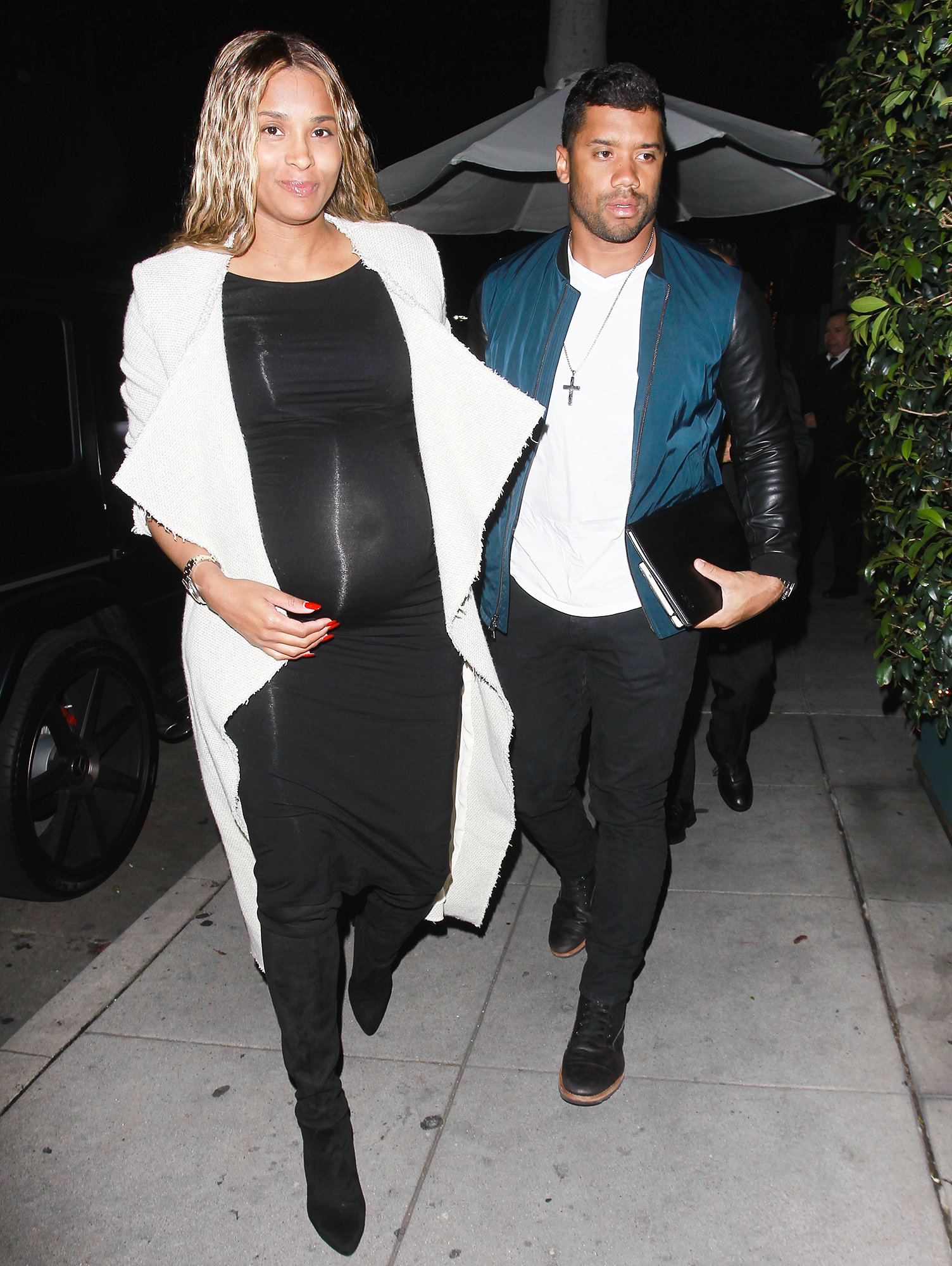 EXCLUSIVE: Singer Ciara and her husband Russell Wilson enjoy a date night together at Mr Chow in Los Angeles