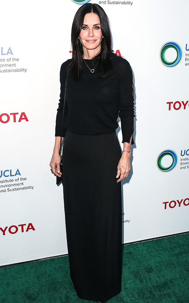 Courteney Cox arrives at the 2017 UCLA Institute of the Environment and Sustainability Gala