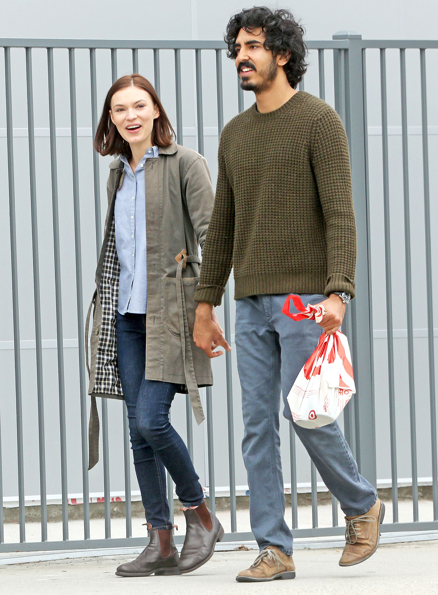 *EXCLUSIVE* Dev Patel spends his post- Oscar day out with a mystery girlfriend