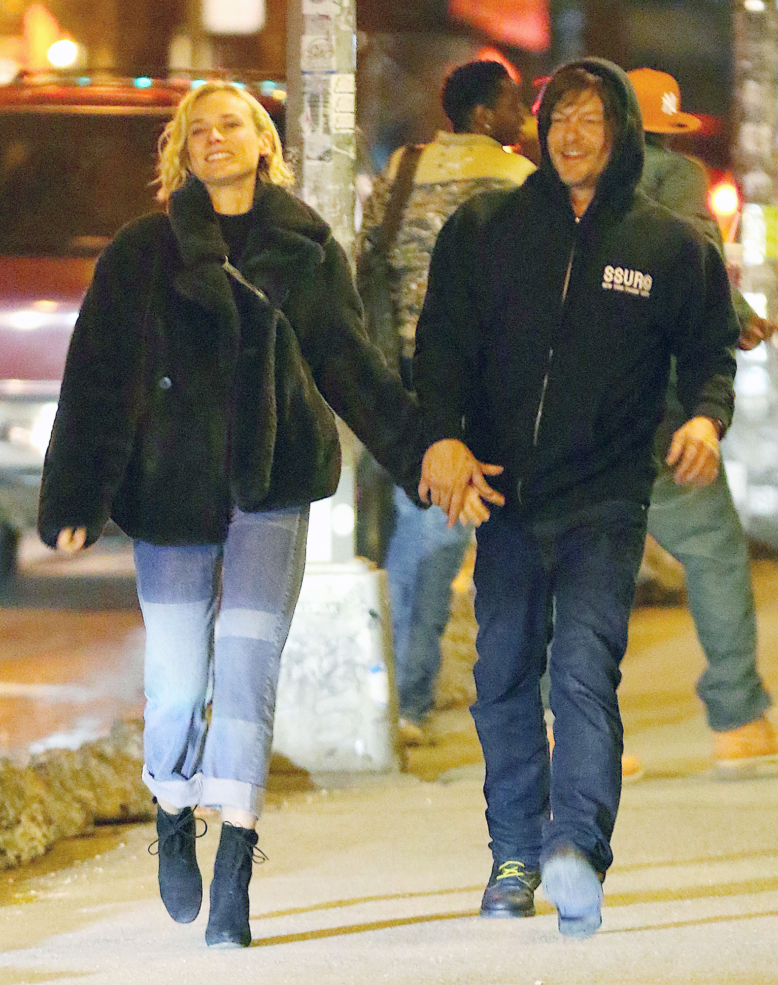PREMIUM EXCLUSIVE: Diane Kruger and Norman Reedus Confirm Relationship with Late Night PDA in New York City