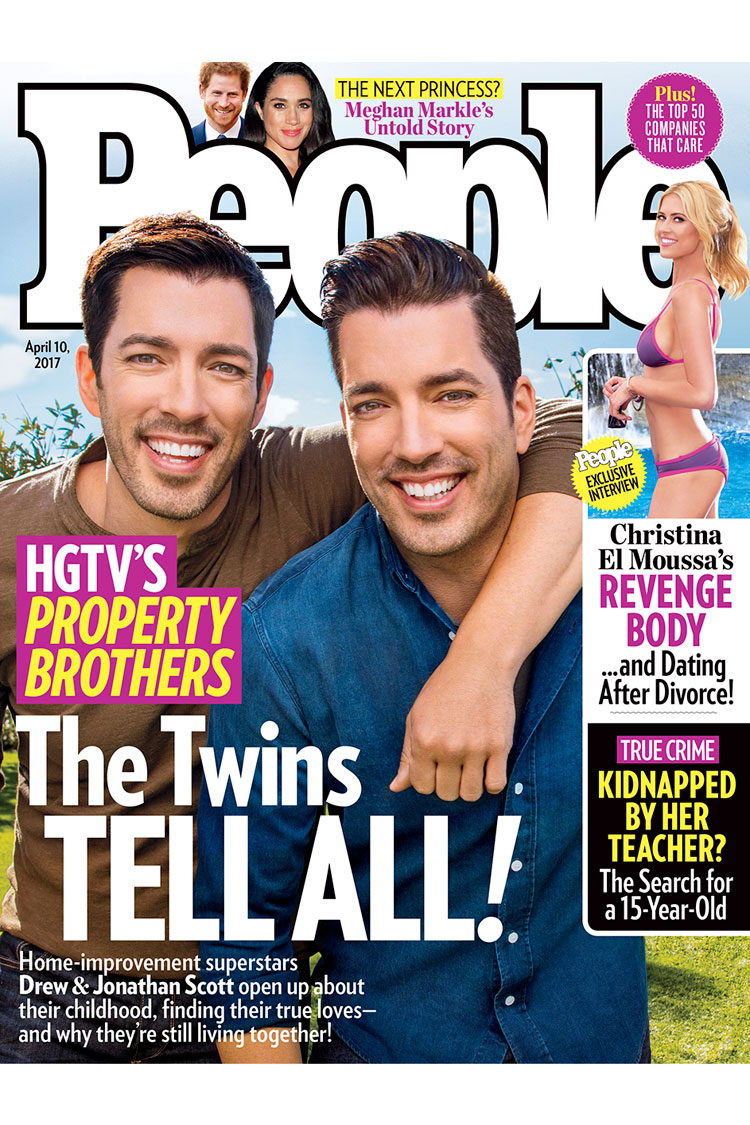 HGTV's Property Brothers Drew and Jonathan Scott People Cover