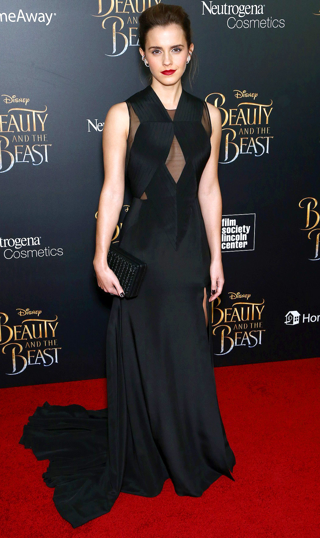 Celebrities attend the New York screening of 'Beauty and the Beast'