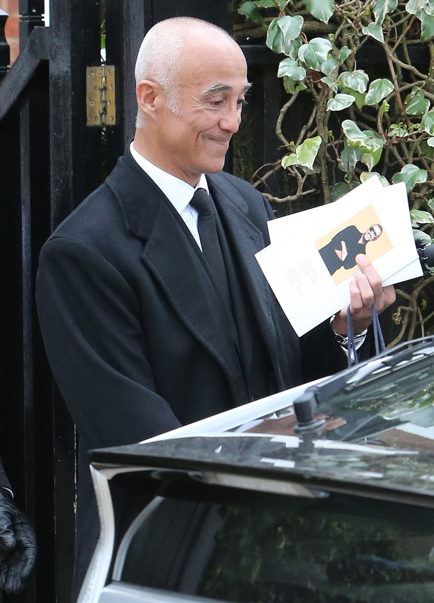 Martin Kemp and Andrew Ridgeley are seen leaving George Michael's funeral reception