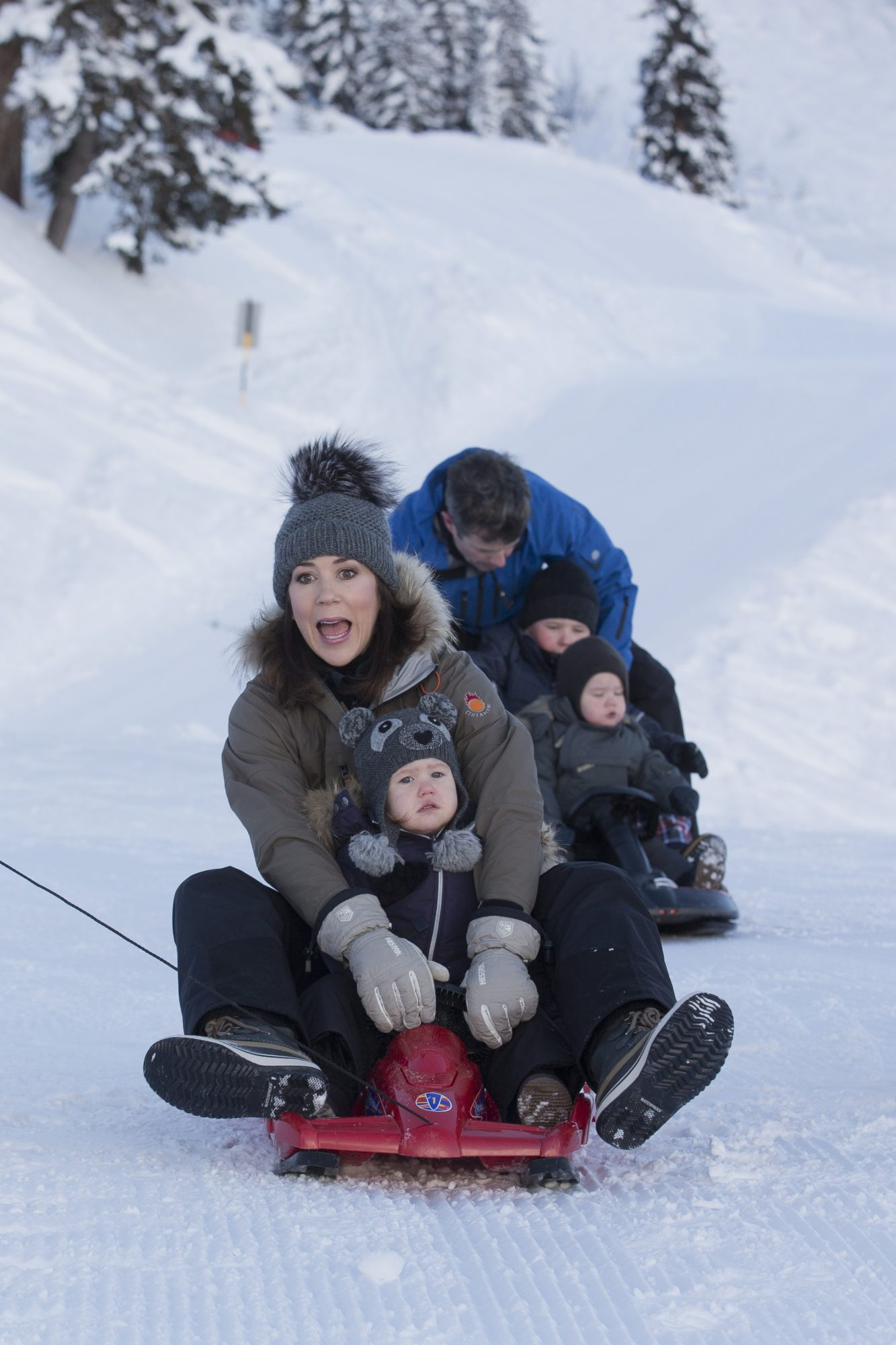 Danish Royals on Holiday in Verbier