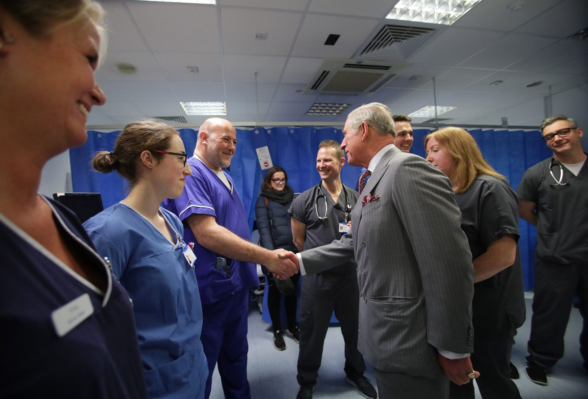 Prince Charles Visits Staff Who Treated The Westminster Terror Attack Injured