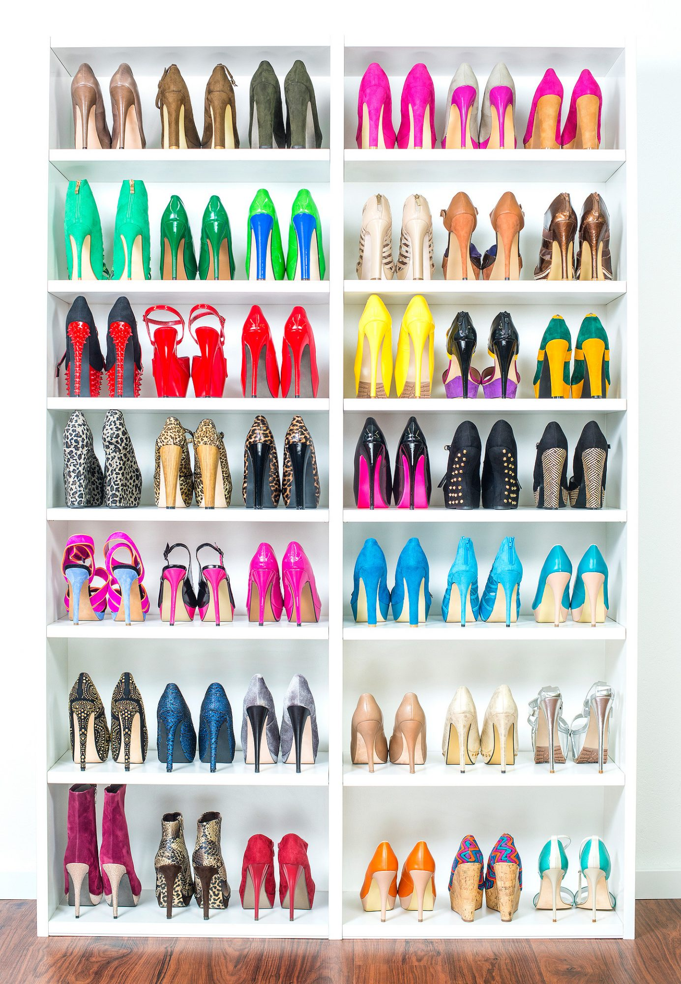 Shoe Closet with lots of colorful High Heels, XXXL image