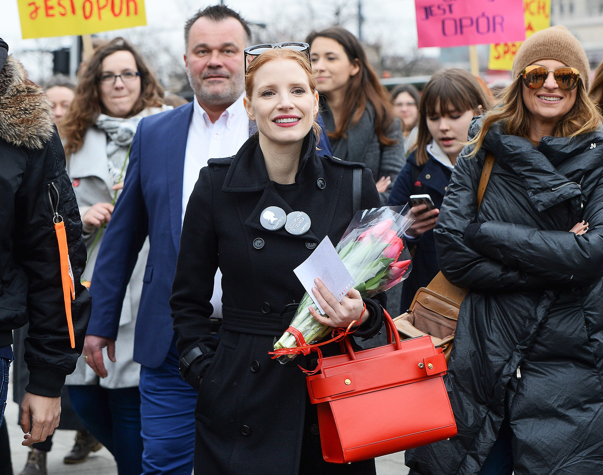 Jessica Chastain Takes Part In International Womens Day In Poland