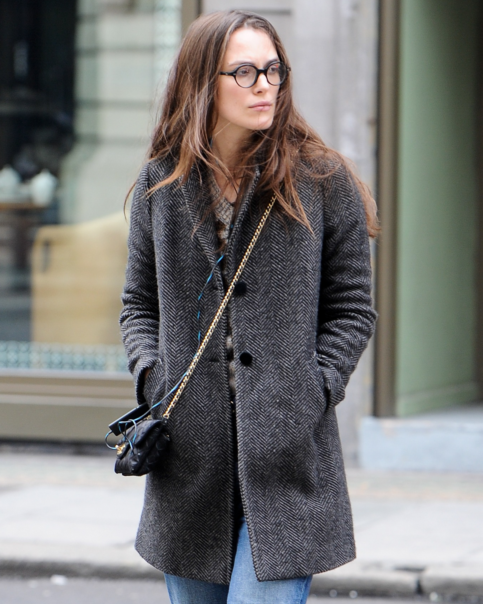 EXCLUSIVE: Keira Knightley pictured running errands in central London this afternoon