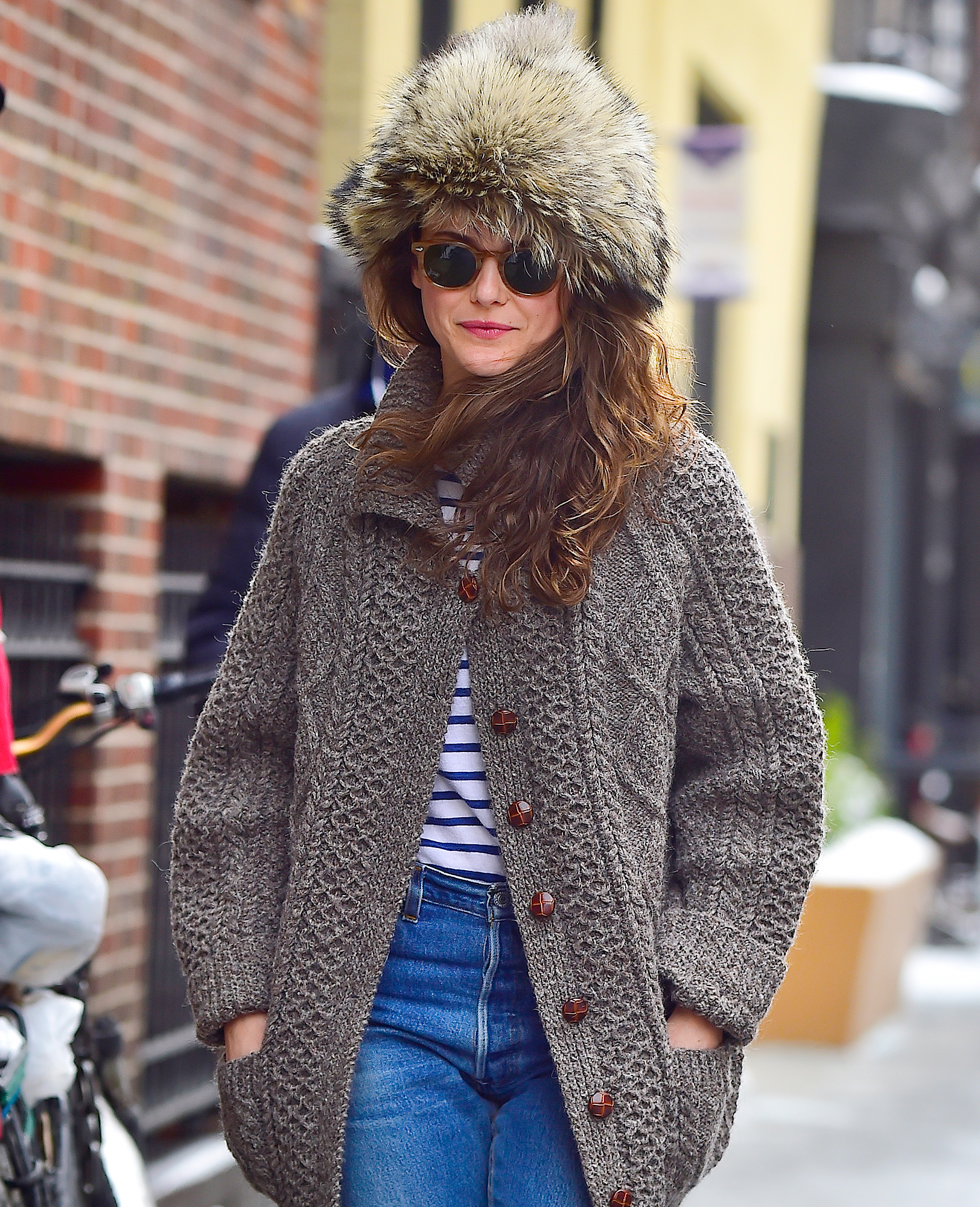 EXCLUSIVE: Keri Russell is Spotted Dressed for the Cold While Out Navigating the snow in Tribeca, New York CIty